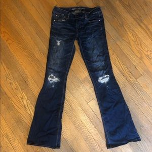 AE destroyed artist jeans